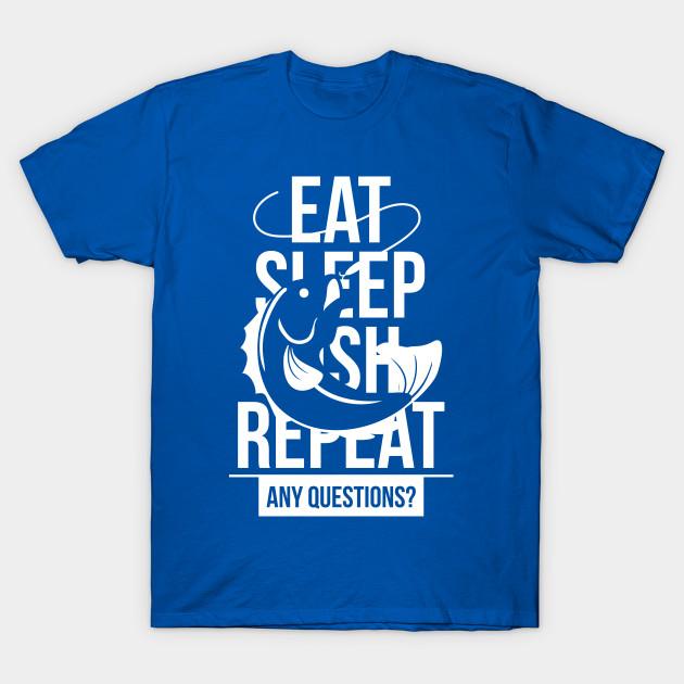 Tee Hunt Eat Sleep Fish Hoodie Funny Fishing Camping Sweatshirt