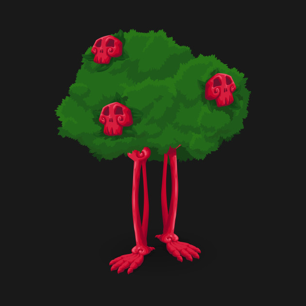 Pink Skeleton Tree with Skull and Legs