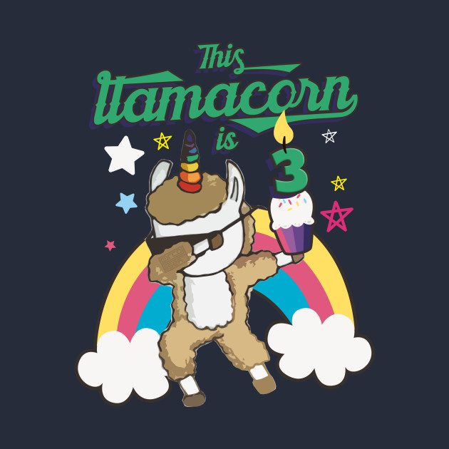 Dabbing Llamacorn Alpaca Llama Unicorn 3RD Birthday