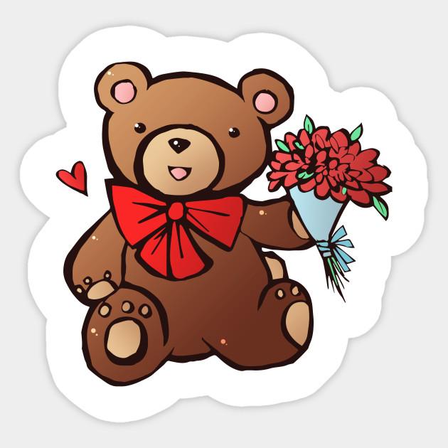 teddy bear bears sticker teepublic