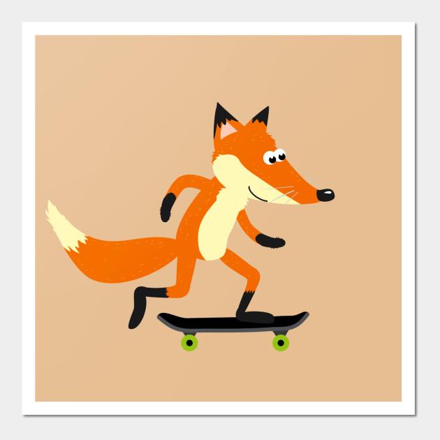 Fox skateboarding - Fox Skateboarding - Wall Art | TeePublic