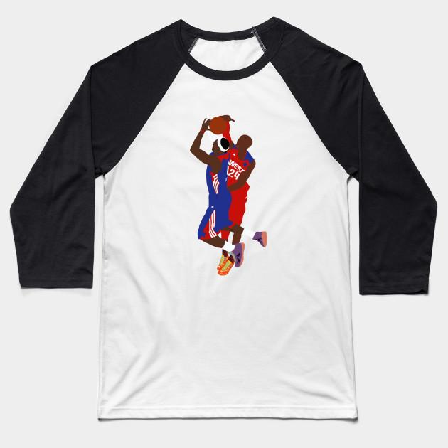 a5f9a2bc07d Kobe Bryant Block On LeBron James - Kobe Bryant - Baseball T-Shirt ...