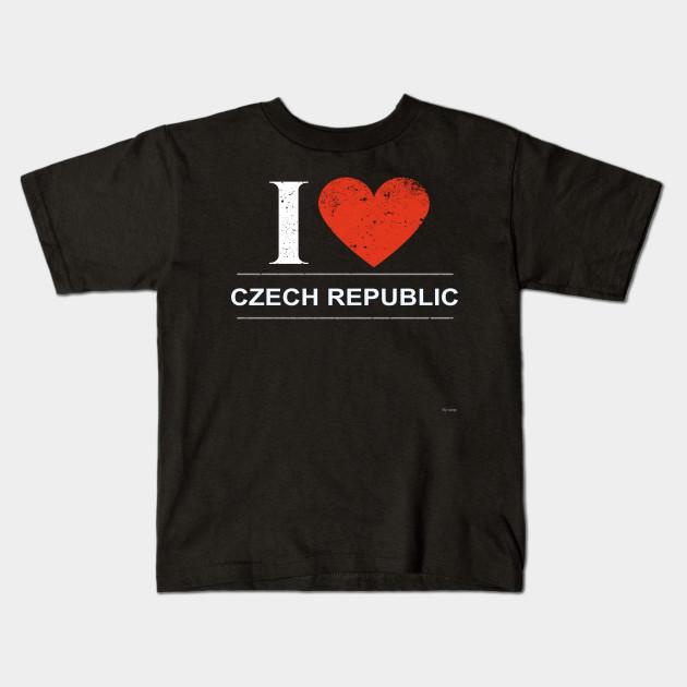 I Love Heart Czech Republic Kids T-Shirt