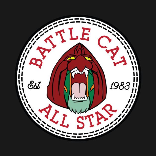 Battle Cat He Man All Star Converse Logo