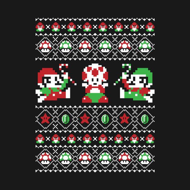Christmas Bros Ugly Christmas Sweater Mario T Shirt Teepublic