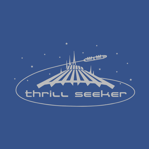 Disney's Space Mountain - Thrill Seeker shirt design