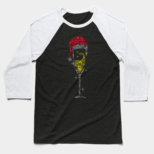 Champagne Glass Christmas champagne glass of sparkling wine glass Baseball T-Shirt