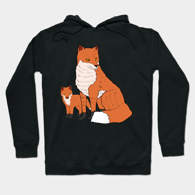 Mother Fox and A Kit Mother's Day Gift Idea Hoodie