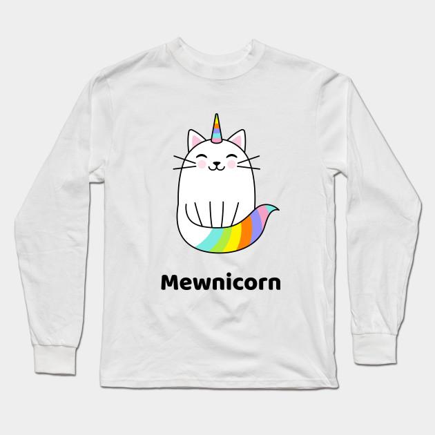 Rainbow Unicorn Womens Crew Neck Long Sleeve Tops Baseball Tee