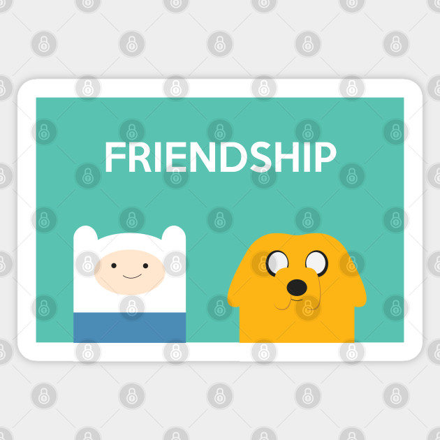 Friendship Adventure Time Sticker Teepublic Uk
