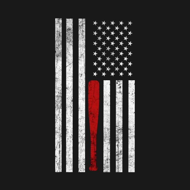 USA Flag Themed Baseball Bat Fans T-Shirt - Gift for ...