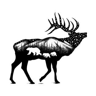 Fox And Hare Scandinavian T Shirt Teepublic