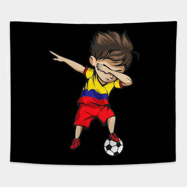 8d709ac4b22 Dabbing Soccer Boy Colombia Jersey Shirt Colombian Football - Cool ...