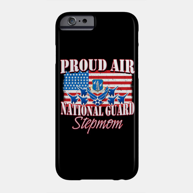 Proud Air National Guard Stepmom USA Flag Mothers Day Phone Case