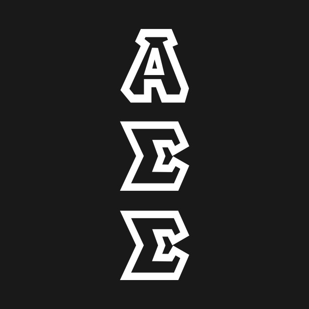 Alpha Sigma Sigma - White Text