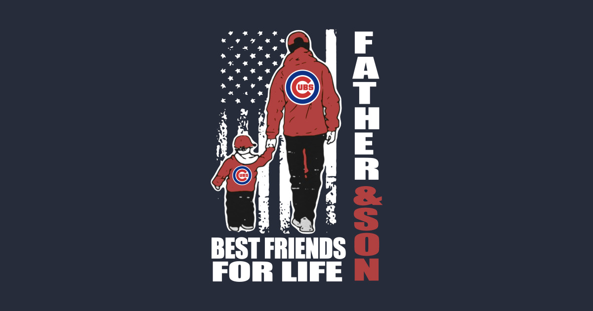 ff332f40 Father's Day Unisex Father And Son Best Friends For Life Chicago Cubs Shirt  Tapestry