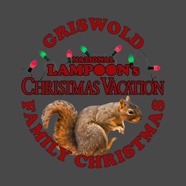 Christmas Vacation Squirrel.National Lampoon S Christmas Vacation Deep Red Text