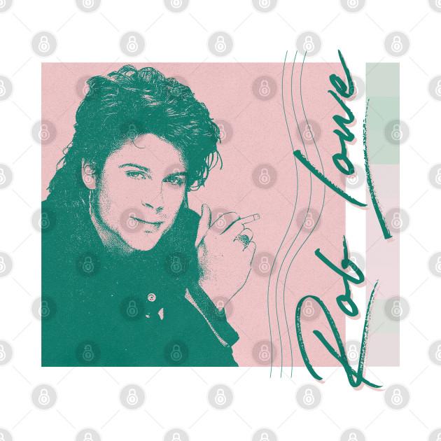 Rob Lowe / / / 80s Aesthetic Fan Art Design