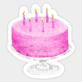 Birthday Cake Stickers Teepublic
