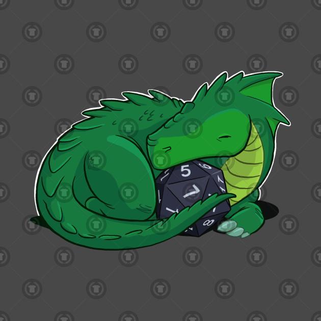 D20 Green Dragon
