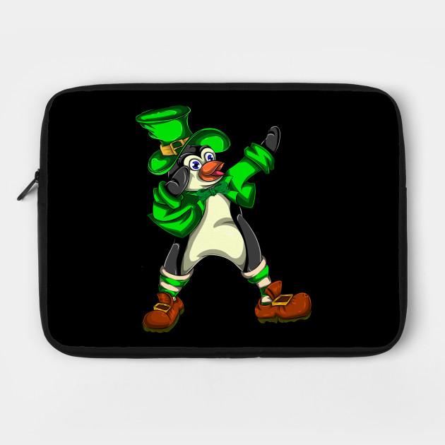 Penguin Dabbing Green St Patricks Day