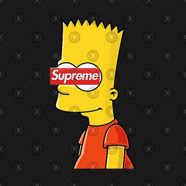 Simpsons Supreme - Bart Simpson - T-Shirt | TeePublic FR