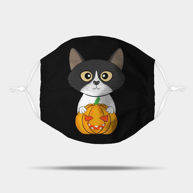 Halloween cute cat pumpkin