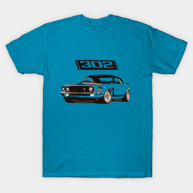 1969 Ford Mustang Boss 302 T Shirt Tees Vintage Classic Car Size S-3XL