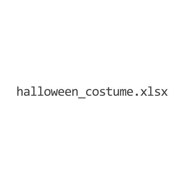 Halloween Costume Excel/Spreadsheet File