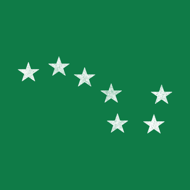 Faded-Style Starry Flag Plough Banner / Irish Socialism