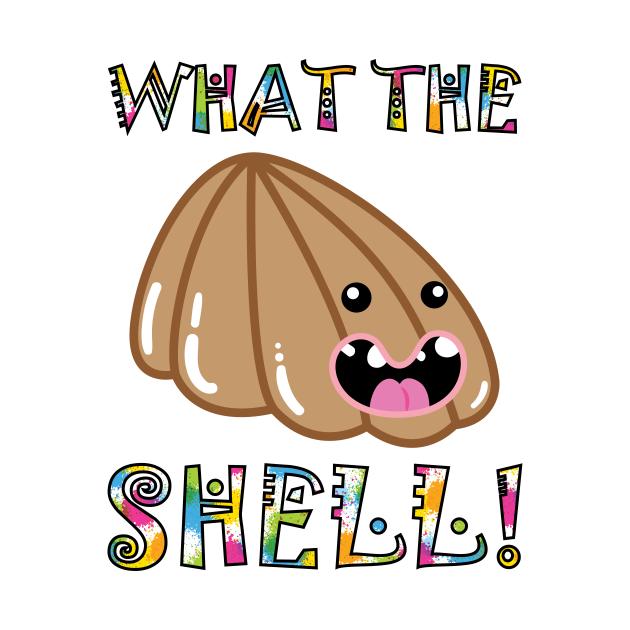 Cute Pets & Pugs T-Shirt: What the Shell! Funny Seashell