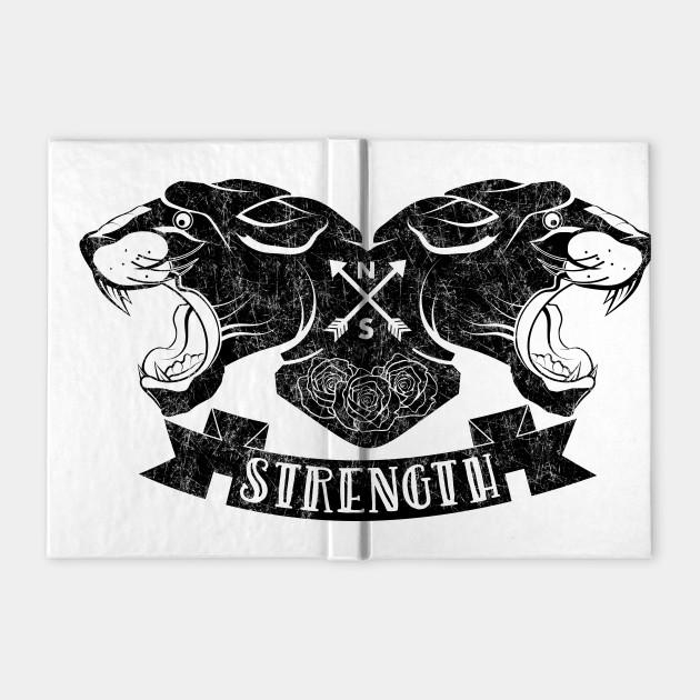 Black Panther Tattoo Design Panther Notebook Teepublic