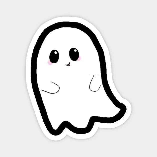 Cute Ghost Ghost Magnet Teepublic Share the best gifs now >>>. cute ghost