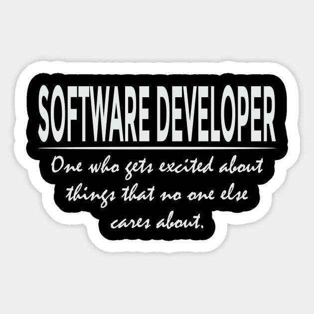 ac9be5b8 Funny Software Developer Definition Cool Programmer T-Shirt Sticker