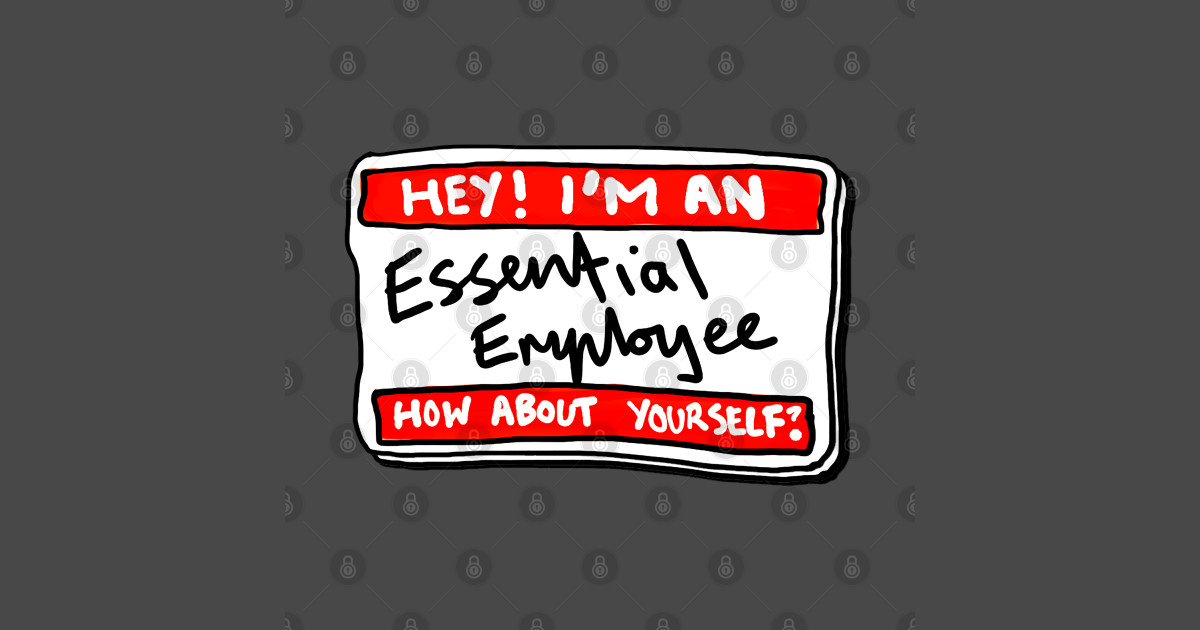 Essential Employee Name Tag - Funny Essential Employee ...
