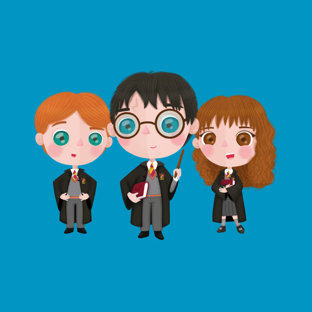 Harry, Hermione & Ron