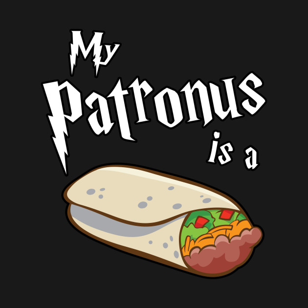 My Patronus is a Burrito Wizard Taco Warlock Magic Food Bell