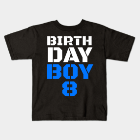 8th Birthday Party Decorations Kids T Shirts