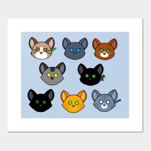 Cats Cat Silvermist Warriors Riverclan Gift for Home Decor Wall Art Print Poster