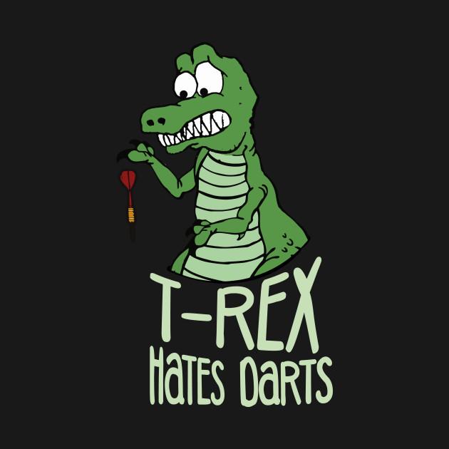 Funny bad at Darts T-Rex Dino Bullseye Fan Gift
