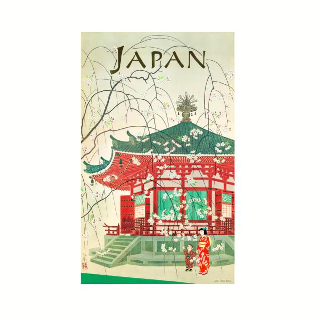 Vintage Travel Poster Japan Geisha