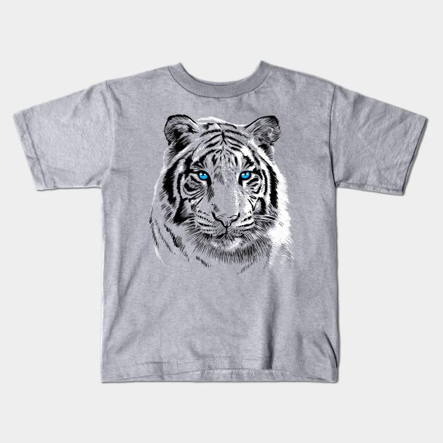 354cc40c71f49 White Tiger - Tiger - Kids T-Shirt | TeePublic