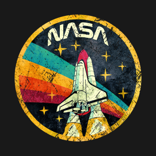 USA Space Agency Vintage Colors V03 t-shirts