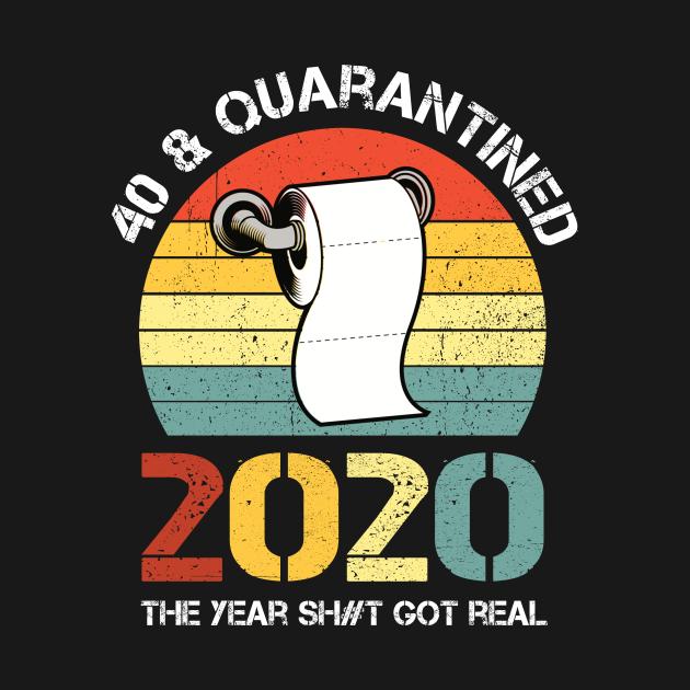 40 Quarantined 1980 Birthday Vintage