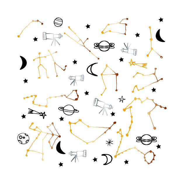 Astrology Pattern Gold and Black