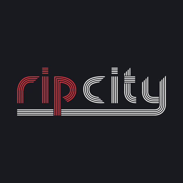 Rip City Black Tee