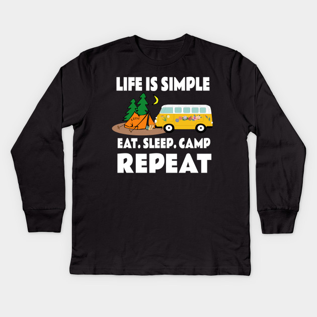 00abc40b8 Funny Summer Camp - Funny Camping Sayings - Kids Long Sleeve T-Shirt ...