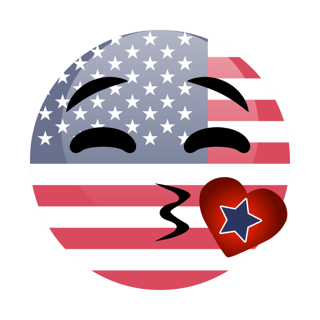 Funny Emoji 4th Of July For Girls Boys