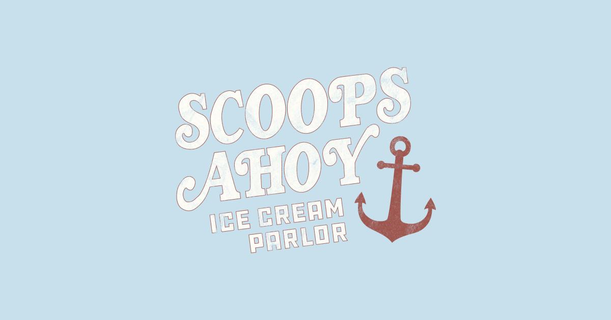 Ice Cream Cart For Sale >> Scoops Ahoy - Stranger Things - Stranger Things - Sticker ...