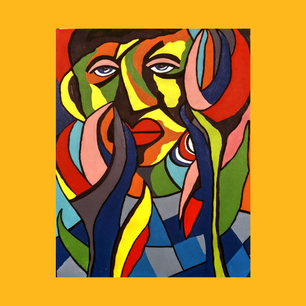 African Traditional Tribal Women Abstract Art Canvas